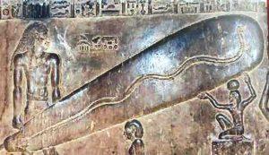 ハトホル神殿の電球レリーフ